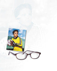 ccc4f0dbe1 Safety glasses in polycarbonate protect eyes on the playing field and in  the workplace. Shown left  Liberty Optical sport goggles.