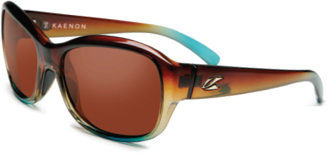 b9ad3114e0 Kaenon s polarized style Maya in tobacco denim has a gentle wrap for a  style statement that works and plays hard