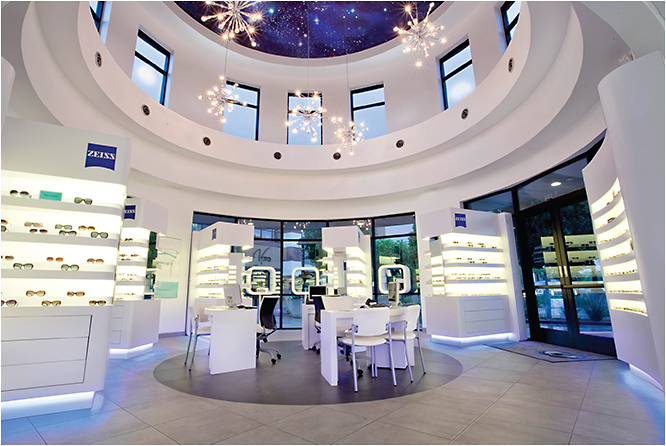The stunning optical area of Family Eyecare