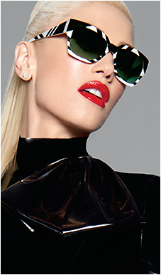 4ebdfa41b2a Gwen in L.A.M.B. sun style DIMA LA523 in Black from Tura