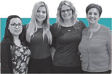 From left: Gloria Lopez, Julia Buchanan, Ashley Samuels, and Lorie White, all of Complete Family Vision Care Optometry.