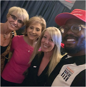 Fundraising for kids' vision screenings + Rx eyewear last month with the iconic Von Miller—Broncos linebacker + founder of the charity Von's Vision—at an OWA event organized in part by EB.