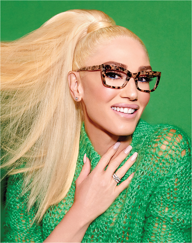 Gwen Stefani wears GX051 from her own collection with Tura.