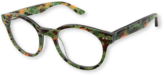 The Zuma Rock ZR002 in green camo is one of Gwen's son Zuma's favorite frames.