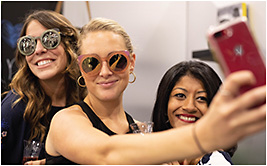 #SunglassesSelfies galore at Vision Expo West.