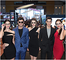 Models at the 2018 fair's Eyewear Parade.