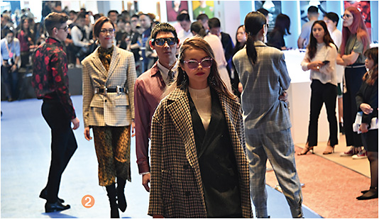 2 Several eyewear parades took place throughout the three-day show, as models sported fashion-forward specs.